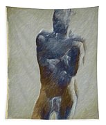 Bronze Statue Tapestry