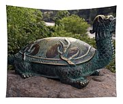 Bronze Turtle Dragon Sculpture Tapestry