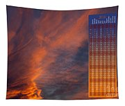 Brooding Orange Annual Calendar2016 Tapestry