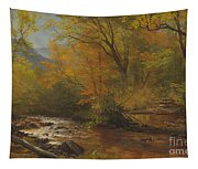 Brook In Woods Tapestry