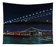 Brooklyn Bridge Full Moon Tapestry