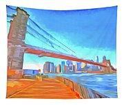 Brooklyn Bridge New York Pop Art Tapestry