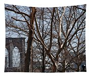 Brooklyn Bridge Thru The Trees Tapestry
