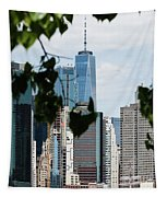 Brooklyn View Of One World Trade Center  Tapestry