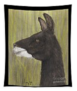 Brown Llama Profile Cathy Peek Farm Animal Art Tapestry