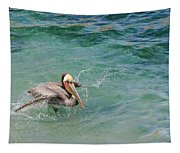 Brown Pelican Tapestry