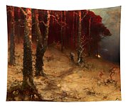 Brushwood Collector Bordering The Woods Tapestry