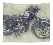 Bsa Gold Star 1 - 1938 - Motorcycle Poster - Automotive Art Tapestry