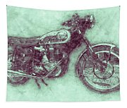 Bsa Gold Star 3 - 1938 - Motorcycle Poster - Automotive Art Tapestry