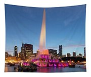 Buckingham Fountain At Dusk II Tapestry