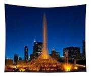 Buckingham Fountain Nightlight Chicago Tapestry