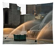 Buckingham Fountain Sidelight  Tapestry