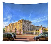 Buckingham Palace And London Taxis Tapestry
