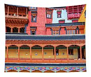 Buddhist Monastery Building Tapestry