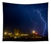 Budweiser Beer Brewery Storm Tapestry