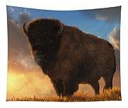 Buffalo At Dawn Tapestry