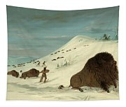 Buffalo Lancing In The Snow Drifts. Sioux Tapestry
