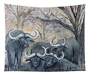 Buffaloes In The Bushveld Tapestry