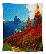 Bugaboos Evening Impasto Tapestry
