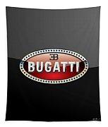 Bugatti - 3 D Badge On Black Tapestry
