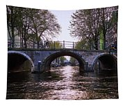 Built 1722. Amsterdam Canals Tapestry