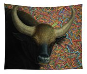 Bull In A Plastic Shop Tapestry
