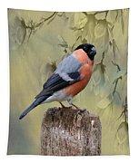 Bullfinch Bird Tapestry