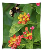 Bumble Bee In Flight Tapestry