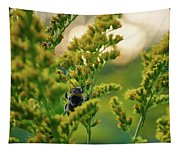 Bumblebee And Canadian Goldenrod 15 Tapestry