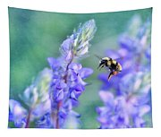 Bumblebee And Lupine Tapestry