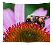 Bumblebee On Coneflower Tapestry