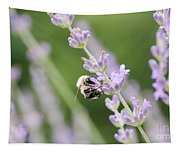 Bumblebee On The Lavender Field 2 Tapestry