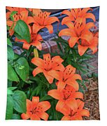 Bunch Of Orange Lilies Tapestry