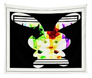 Bunny In Abstract Tapestry
