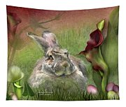 Bunny In The Lilies Tapestry