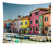 Burano Canal Tapestry