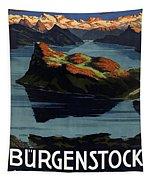Burgenstock - Lake Lucerne - Switzerland - Retro Poster - Vintage Travel Advertising Poster Tapestry