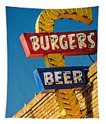 Burgers And Beer Tapestry