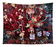 Burgundy Succulents. Multi Color Beauty Tapestry