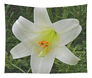 Burlap Textured Easter Lily Tapestry
