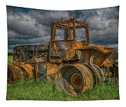 Burned Out Farm Tractor Tapestry