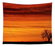 Burning Country Sky Tapestry