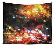 City Of Burning Lights Tapestry