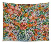 Burst Of Flowers Tapestry