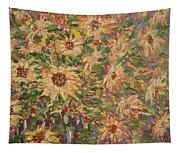 Burst Of Sunflowers. Tapestry