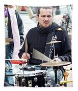 Busking Drummer Tapestry