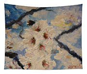 Busy Bumble Bee And Blossom.  Tapestry
