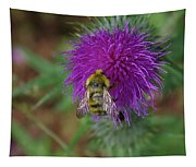 Busy Bumble Bee  Tapestry