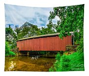 Butchers Mill Covered Bridge Tapestry