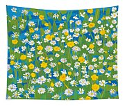 Buttercups And Daisies Tapestry